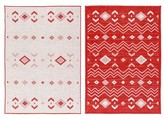 """Tseng Reversible Cream/Red Indoor/Outdoor Area Rug Millwood Pines Rug Size: Rectangle 5'3"""" x 7'6"""""""