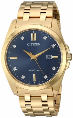 Citizen Men's Eco-Drive Japanese-Quartz Stainless-Steel Strap Gold Casual Watch (Model: BM7103-51L)