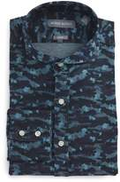 Michael Bastian Trim Fit Camo Print Dress Shirt