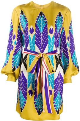 Valentino Feather Print Dress