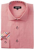 Jared Lang Long Sleeve Weave Pattern Dress Shirt