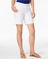 Charter Club Petite Boat-Print Shorts, Only at Macy's