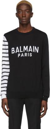 Balmain Black and White Logo Sweater