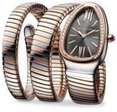 Bvlgari Serpenti Tubogas Rose Gold, Stainless Steel & Diamond Double Twist Watch