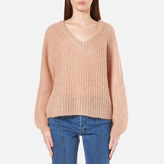 Gestuz Women's Cadence VNeck Jumper - Maple Sugar