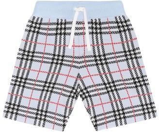 BURBERRY KIDS Vintage Check merino wool shorts