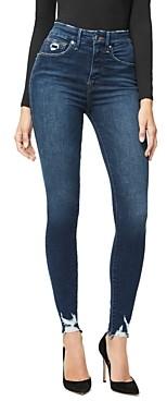 Good American Good Waist Distressed Skinny Jeans in Blue309