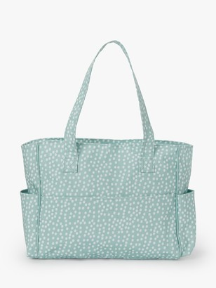 John Lewis & Partners Spot Print Craft Bag, Duck Egg