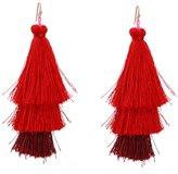 Line & Dot Dot & Line earrings (Red)