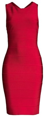 Herve Leger Sleeveless Bandage Cocktail Dress