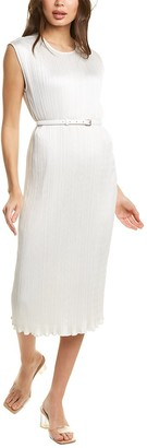 Max Mara Pleated Sheath Dress