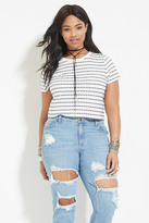 Forever 21 FOREVER 21+ Plus Size Striped Tee
