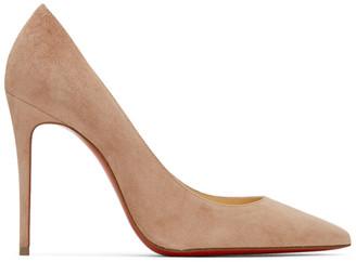 Christian Louboutin Beige Suede Kate 100 Heels