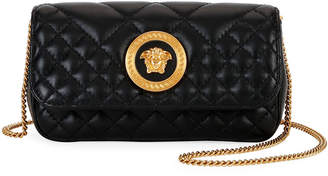 Versace Icon Micro Quilted Leather Crossbody Bag