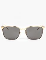 Linda Farrow Gold-Plated Wayfarer Sunglasses