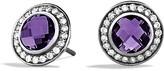 David Yurman Cerise Mini Earrings with Amethyst and Diamonds