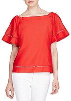 Lauren Ralph Lauren Petite Cotton-Silk Off-the-Shoulder Top