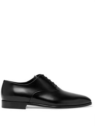 Burberry Mennington Leather Oxford Shoes - Mens - Black