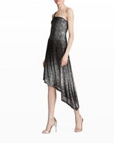 Thumbnail for your product : Halston Ariah One-Shoulder Ombre Sequin Dress