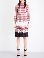 Altuzarra Maria check and tie dye-print crepe dress