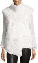 Pologeorgis Kalgan Lamb & Rabbit Fur Vest, White