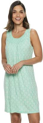 Croft & Barrow Women's Smocked Nightgown