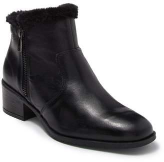 Kenneth Cole Reaction Salt Zip Cozy Faux Fur Trimmed Leather Boot