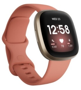 Fitbit Versa 3 Pink Clay Strap Smart Watch 39mm