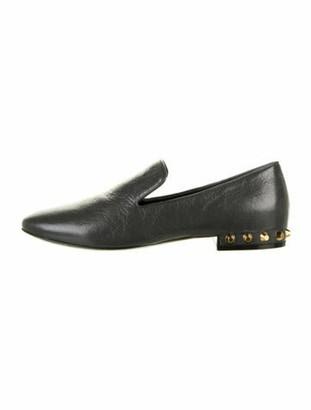 Balenciaga Leather Loafers Grey