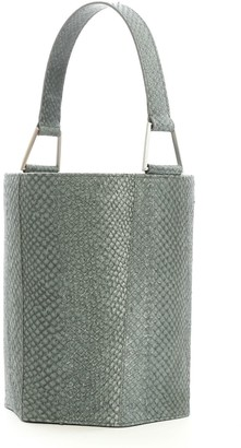 Aitch Aitch The Simone Bucket Bag In Stone With Silver Hardware