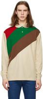 Gucci Off-White and Multicolor Oversize Striped Polo