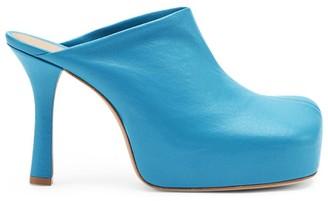 Bottega Veneta Leather Bold Platform Mules 105