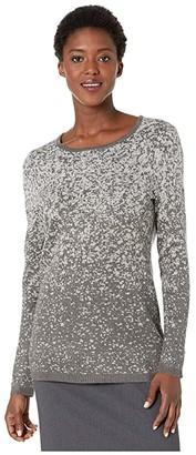Calvin Klein Crew Neck Sweater with Lurex (Grey Melange) Women's Clothing