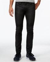 Armani Exchange Men's Slim-Fit Coated Moto Jeans