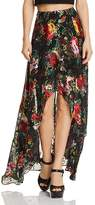 Alice + Olivia Kirstie Floral Burnout High/Low Maxi Skirt