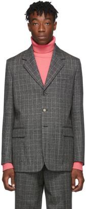 Marni Black and Grey Micro-Check Blazer