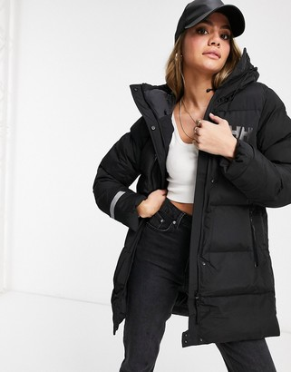 Helly Hansen Adore puffer parka jacket in black