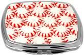 Rikki Knight Compact Mirror, Christmas Peppermint Candies, 3 Ounce