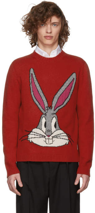 Gucci Red Guccy Bugs Bunny Crewneck Sweater