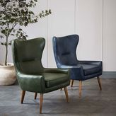 west elm Erik Leather Wing Chair