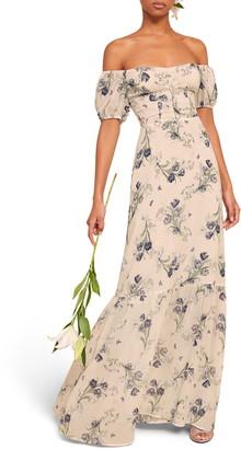 Reformation Farrow Off the Shoulder Maxi Dress