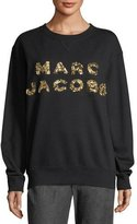 Marc Jacobs Beaded Logo Crewneck Sweatshirt