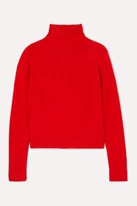 The Elder Statesman Highland Cashmere Turtleneck Sweater - Red