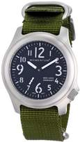Momentum Base Layer Men's Quartz Watch with Black Dial Analogue Display and Green Nylon Strap 1M-SP76B7G