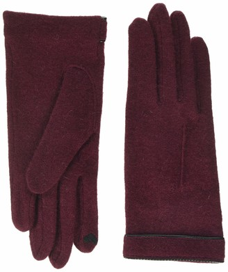 Roeckl Women's Cut & Sewn Leather Piping Gloves