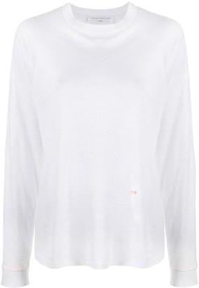 Victoria Beckham long-sleeved knitted T-shirt