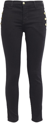 J Brand Button-detailed Mid-rise Skinny Jeans