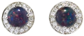 Andrea Fohrman Opal Doublet Stud Earrings with Diamonds - White Gold