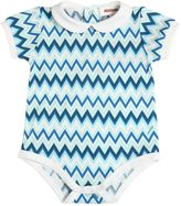 Missoni Zigzag Print Cotton Jersey Bodysuit