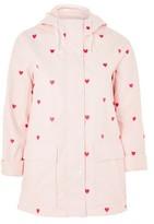 Topshop Love Heart Print Raincoat Mac
